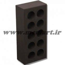 brown perforated bricks 5.5x10x21.5