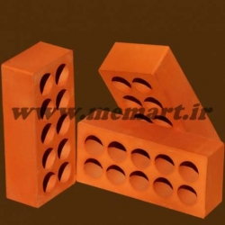 light red perforated bricks 5.5x10x21.5