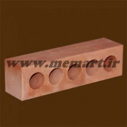 half pink perforated bricks 5.5x6x22