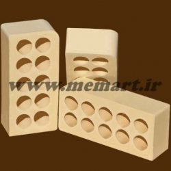 bullnose perforated bricks 5.5x10x21.5